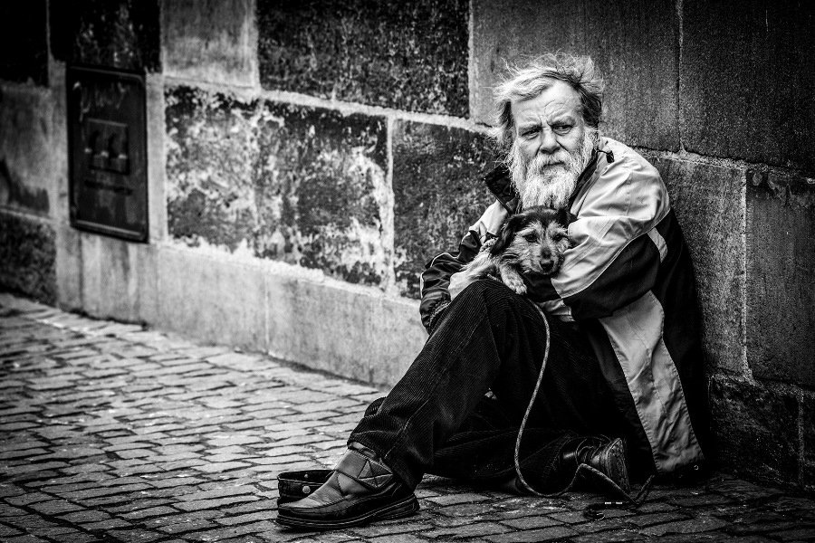 Ovi D Pop ©, Old Man with the Dog