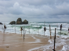 art of stilt fishing