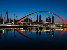 cityscape thru Dubai eye